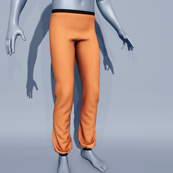 Men Sport Pants - Orange Tiger