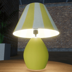 YELLOW TABLE LAMP - DECORATIVE