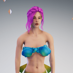 Sea Shell Top for Mermaid Character