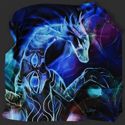 Cosmic Dragon Picnic Blanket