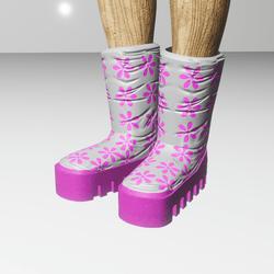 moonie pinkie boots