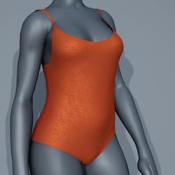 Body Swimsuit - Orange