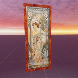 The Times of the Day Evening Contemplation Alphonse Mucha