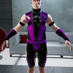Purple and Black Ninja Bodysuit