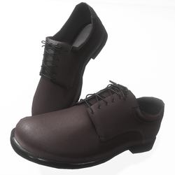 Oxford style male shoes - dark brown