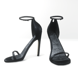 Ankle strap sandals  for Nicci - glitter navy blue