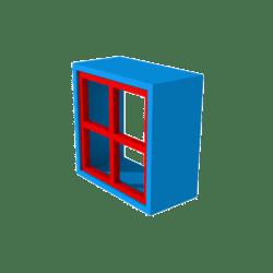 San Block Window - Red Style 1