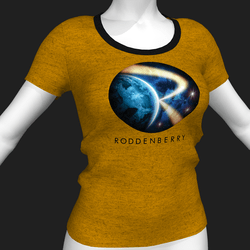 Star Trek Mission Log - Roddenberry T-Shirt - Yellow - Female