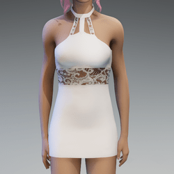 White Lace Partydress