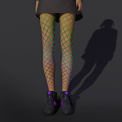 Fishnet Leggings Rainbow