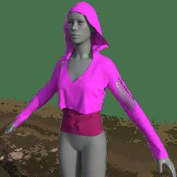 Womens Hoodie Goth - Pink