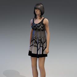 Dress Kassandra 2.0 halloween black