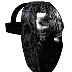 Black Carbon Fiber Battle Mask (Male)