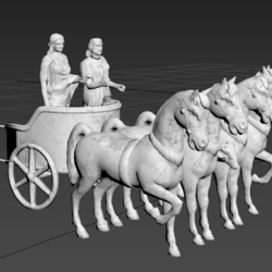 Statues chariot