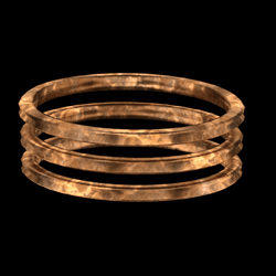 Tripple Armlet Copper - rigged left