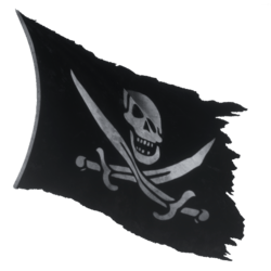 Pirate Flag 01 Blowing 03