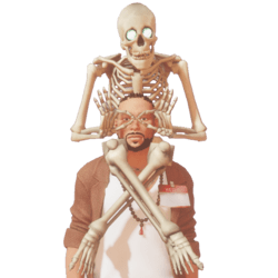 Skeleton on shoulders m