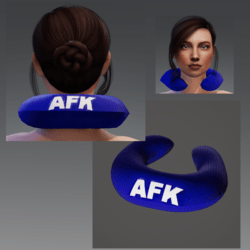 "Travel Pillow -  Blue AFK- Relieves Heavy Head Syndrome ""HHS"""