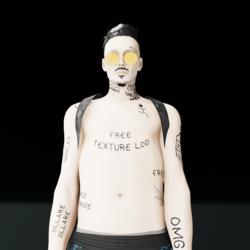 #Free Tattoo male torso