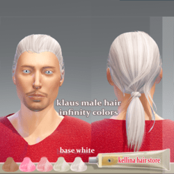 klaus male hair -infinity colors -base white