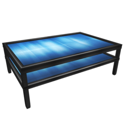 Table with frame and blue top