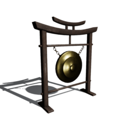 Japanese wooden gong