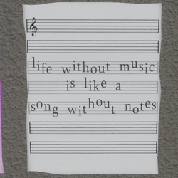 life without music wall poster