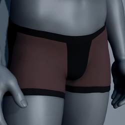 Men Boxer Underwear - Brown and Black