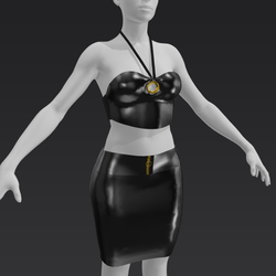 Latex Club outfit - black