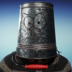 Haunted Bucket Helmet (Male)
