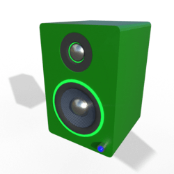 Small Desktop Speakers w/ Glow Ring (Green)