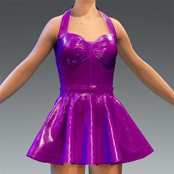 Latex Rubber Dress Short Purple