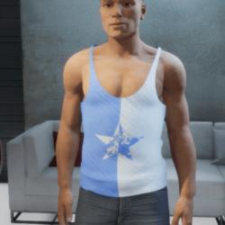 Tank top star blue white