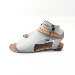 AV 2.0  Open toe textile sandals - white