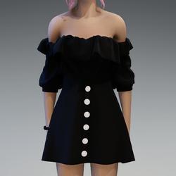 Flattering Spring Dress in Black
