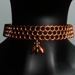 AV 2.0  Honeycomb choker - copper