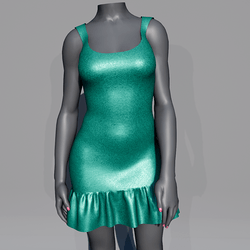 Glitter Party Dress - Emerald
