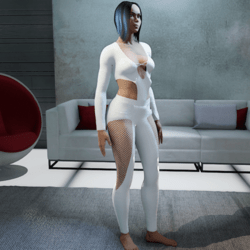 Outfit Carla Latex 2.0 white