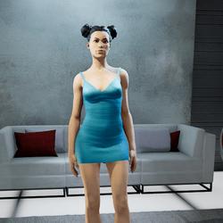 CLELIA  strappy dress blue 2
