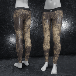 Leggings Fractal Leather brown