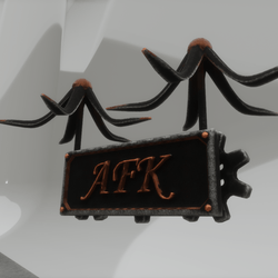 AFK Sign Animated