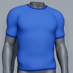 Men Plain TeeShirt - Blue