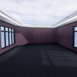 Skybox - Purple and Black - The Little Room With Ceiling Lamp