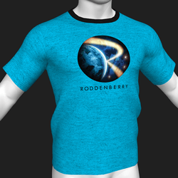 Star Trek Mission Log - Roddenberry T-Shirt - Blue - Male