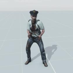 police zombie NPC animated