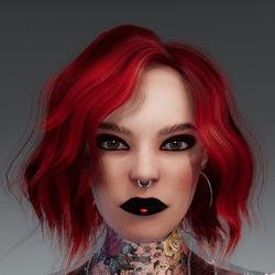 Daphne Valentine Makeup Heart