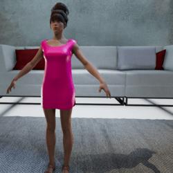 Kale dress pink