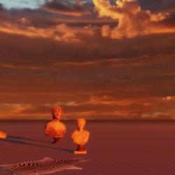 orange idaho sunset skybox
