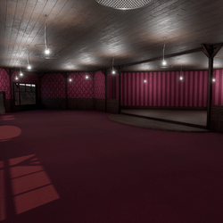 Corner Saloon - Pink - With Ceiling Lamps