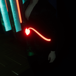 Demon Tail Heart Red (Glow Red)